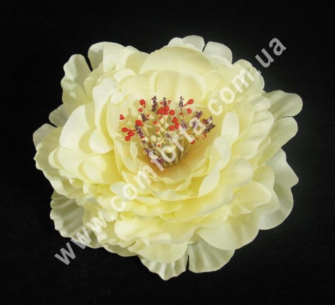 33150-01 Головка пиона кремовая, диаметр ~ 16 см, цветок искусственный
