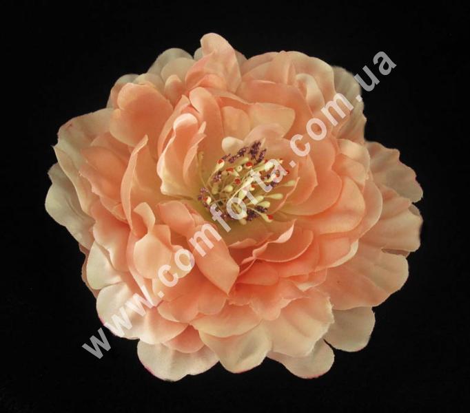 искусственная головка пиона, диаметр - 16 см, цвет - розовый