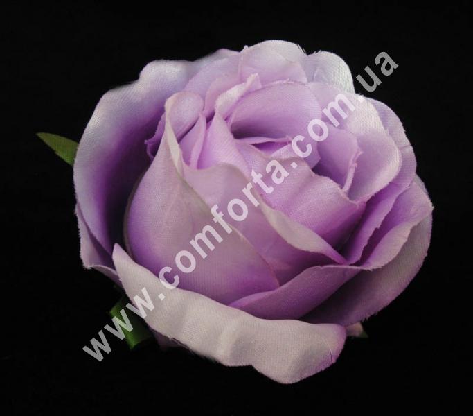 головка розы сиреневая, диаметр - 8 см, материал - ткань