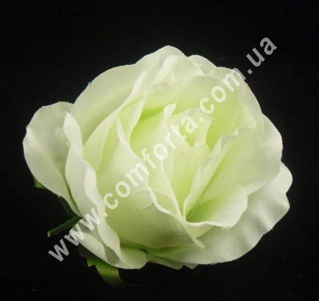 головка розы мятная, диаметр - 8 см, материал - ткань
