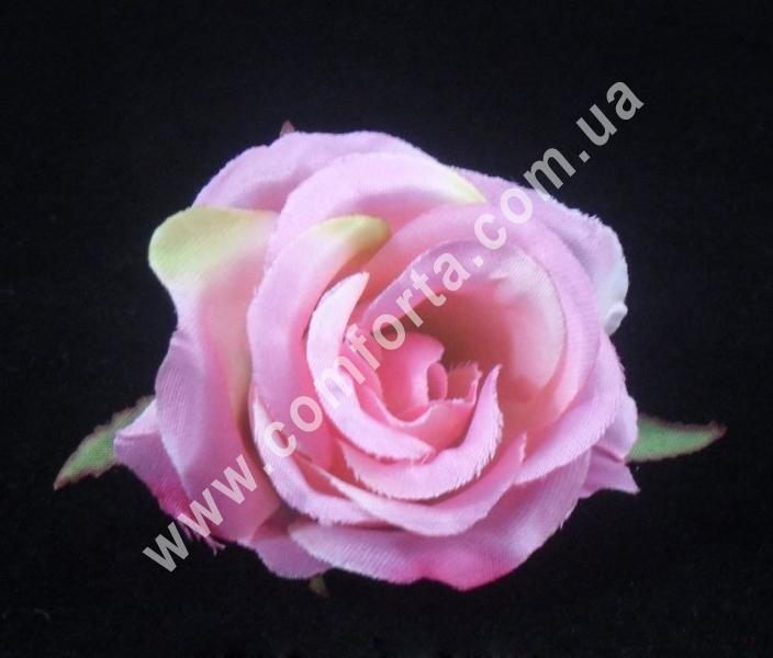 Головка розы маленькая, d-6см, цветок искусственный