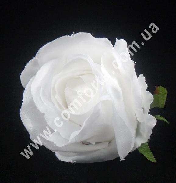 Головка розы, d-7см, цветок искусственный