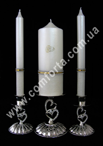 свадебные свечи для семейного очага Элегант Обручальное кольцо