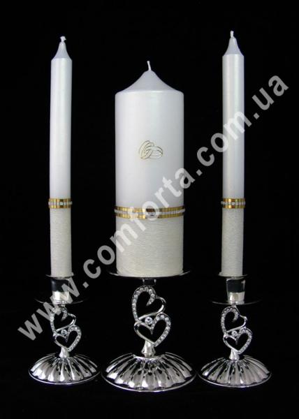 свадебные свечи семейный очаг Элегант Обручальное кольцо