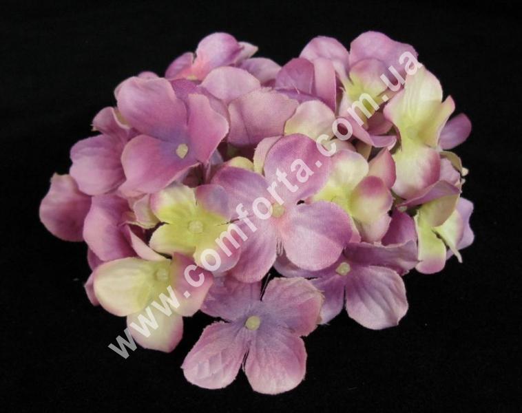 головка гортензии сиренево-розовая, диаметр - 13 см, цветок искусственный