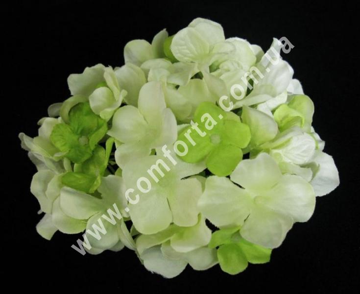 головка гортензии зеленая, диаметр - 13 см, цветок искусственный