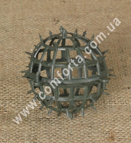 основа шар для флористических композиций из искусственных цветов, диаметр - 10 см, материал - пластик