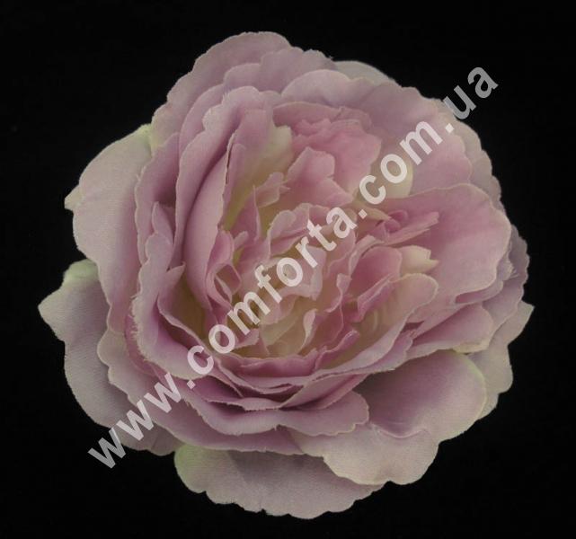 головка розы пионовидной нежно-сиреневая, диаметр - 11 см, высота - 6 см, материал - ткань