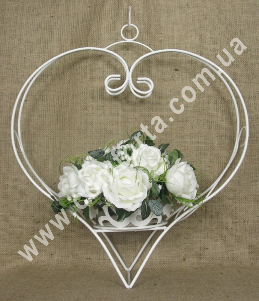 свадебный декор металлический, сердце подвесное, подвесной декор для свадьбы