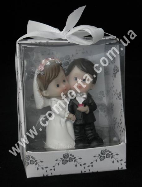 свадебная фигурка молодожен на торт, высота - 7 см, материал - полистоун