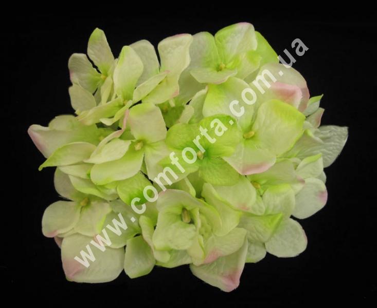 головка гортензии нежно-зеленая, диаметр - 16 см, цветок искусственный