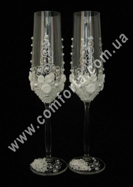 свадебные бокалы ручной