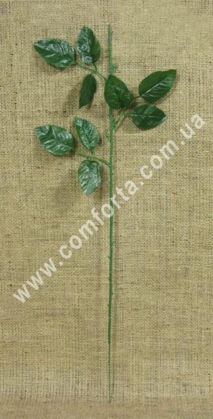 стебель розы, высота - 22 см, материал - ткань, пластик