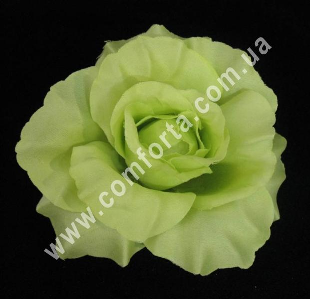 головка розы зеленая, диаметр - 11 см, цветок искусственный