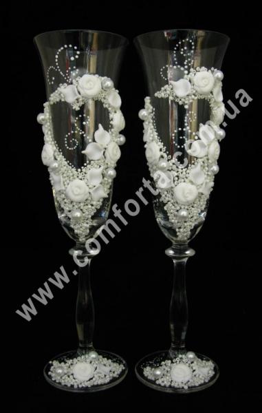 свадебные бокалы с лепными
