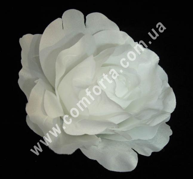 головка розы белая, диаметр - 11 см, цветок искусственный