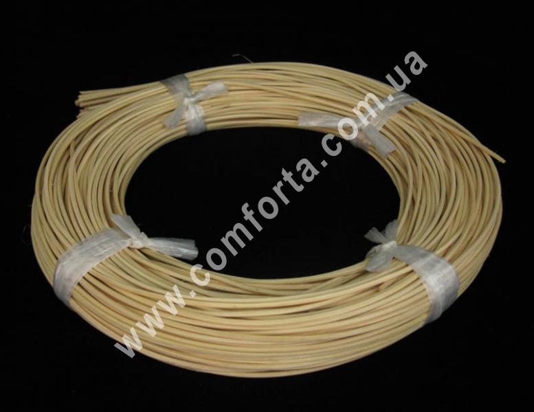 ветка ротанга бежевая, длина - 2-3 м, диаметр - 1,5 мм, декор искусственный
