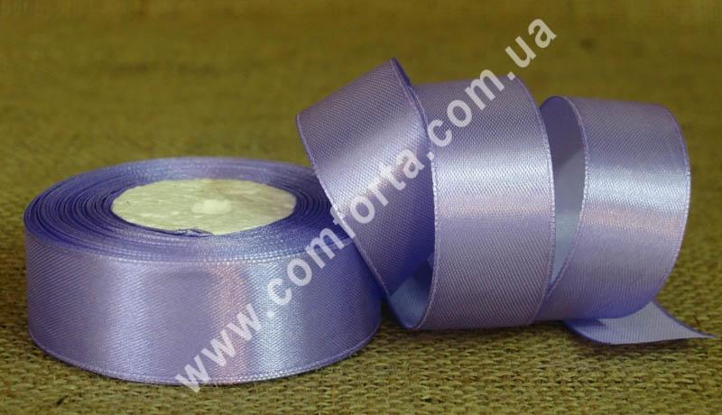 лента атласная сиреневая в рулоне, ширина - 2,5 см, длина - 23 м