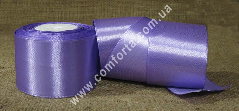 лента атласная сиреневая в рулоне, ширина - 5 см, длина - 23 м