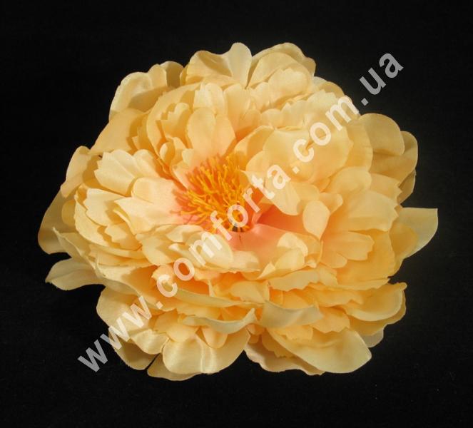 33790-05 Головка пиона персиковая, диаметр ~ 15 см, цветок искусственный
