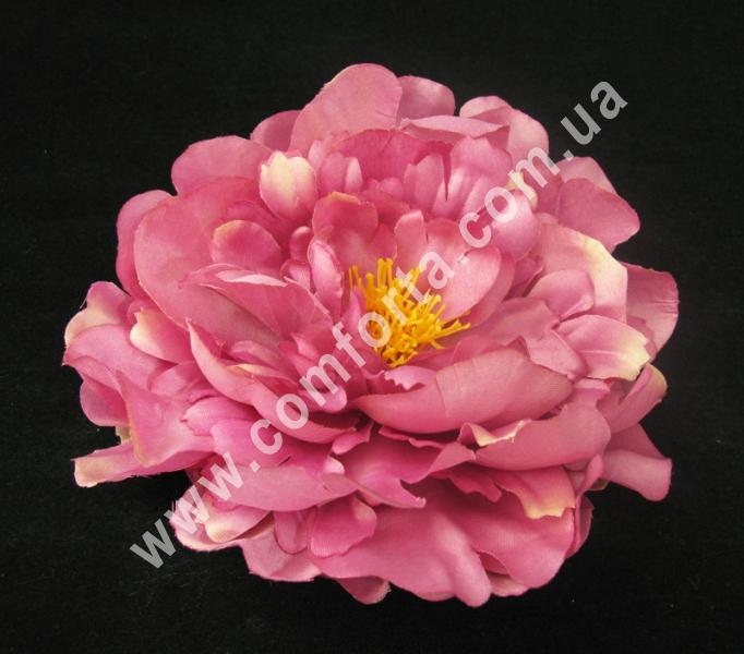 33790-10 Головка пиона бордовая, диаметр ~ 15 см, цветок искусственный