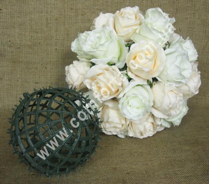основа шар для флористических композиций из искусственных цветов, диаметр - 15 см, материал - пластик