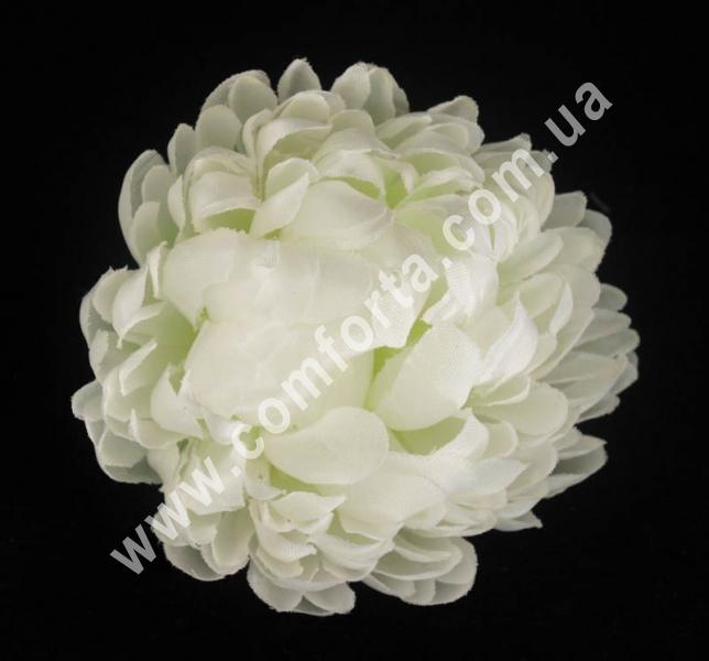 головка хризантемы, белая, диаметр - 8 см, цветок искусственный