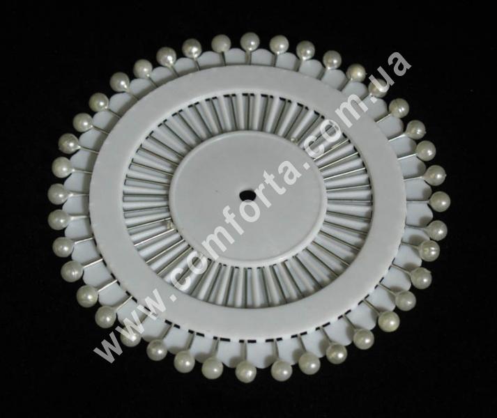 декоративные булавки с головкой из жемчуга (40 шт), белые