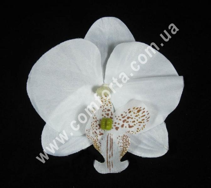головка орхидеи белая, диаметр - 9 см, материал - ткань