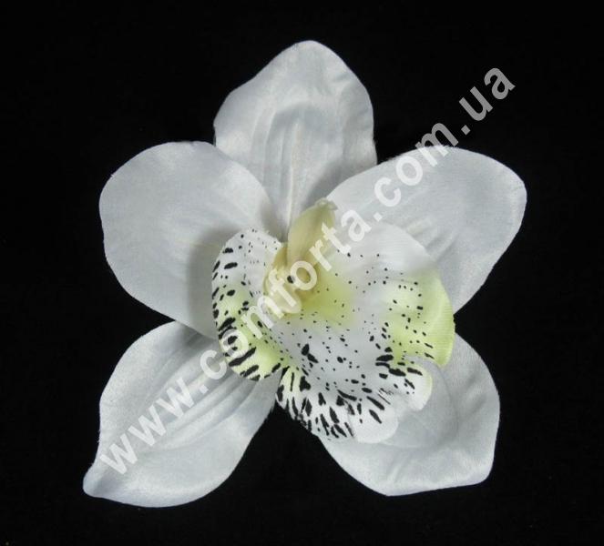 головка орхидеи белая, диаметр - 12 см, материал - ткань