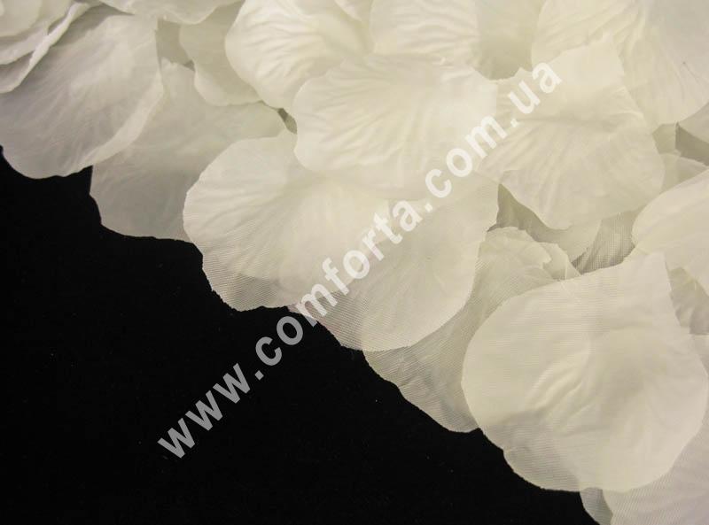 лепестки роз прессованные бело-кремовые (~ 100 шт, 12 г), декор искусственный