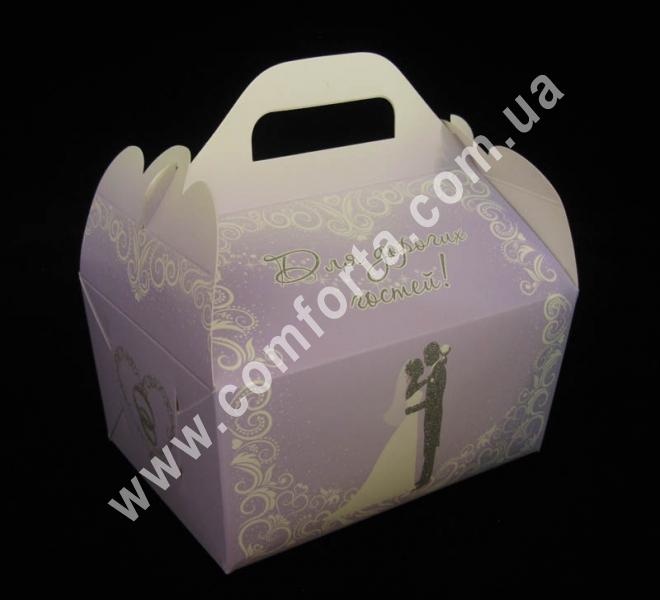 коробочка для каравая, размеры - 15,5 х 10 х 15,5 см, материал - картон