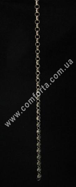 подвеска из из хрустальных бусин на цепочке, длина - 1 м