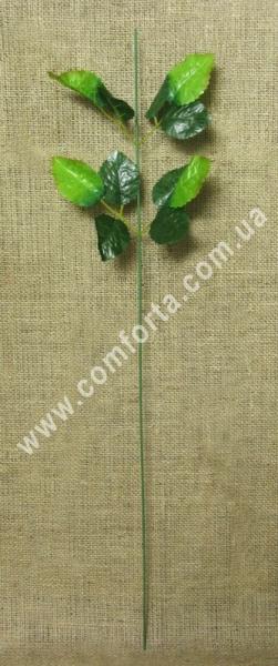 стебель розы, высота - 64 см, материал - ткань, пластик